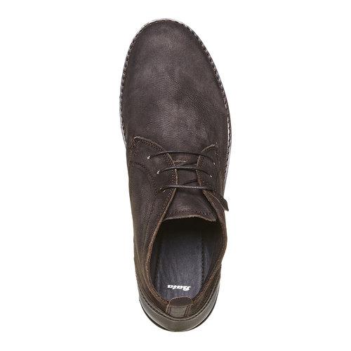 Scarpe di pelle alla caviglia bata, marrone, 894-4630 - 19