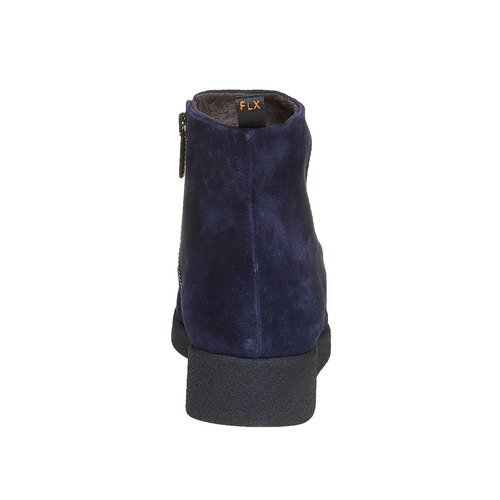 Scarpe in pelle da donna alla caviglia flexible, blu, 593-9577 - 17