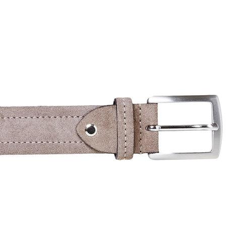 Cintura in pelle beige bata, grigio, 953-2104 - 26