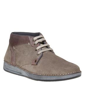 Scarpe di pelle alla caviglia bata, marrone, 843-4688 - 13
