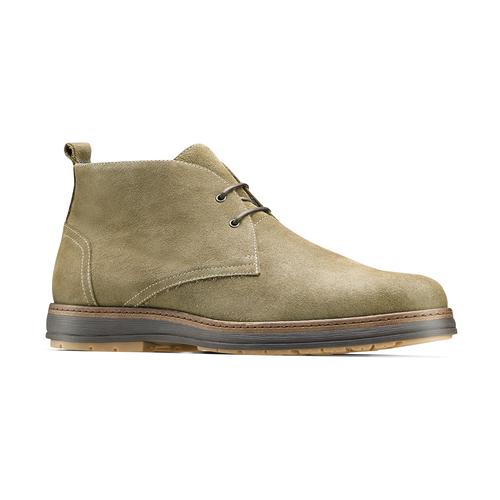 Scarpe di pelle in stile Desert Boots bata, grigio, 823-2535 - 13