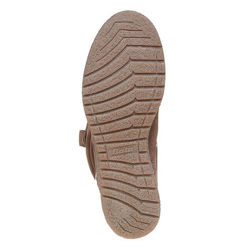 Stivali in pelle da donna bata, grigio, 593-2319 - 26