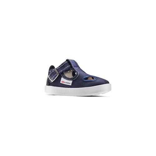 Sandali colorati per i più piccoli superga, blu, 169-9343 - 13