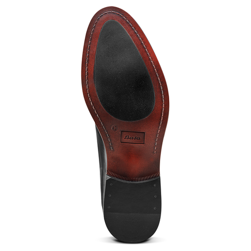 Scarpe basse di pelle in stile Derby bata, nero, 824-6874 - 19
