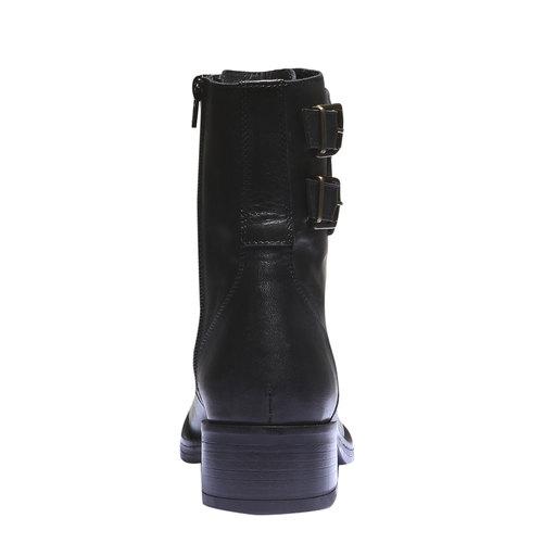 Sneakers alte con lacci bata, nero, 594-6198 - 17