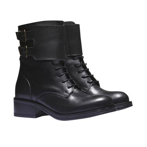 Sneakers alte con lacci bata, nero, 594-6198 - 26