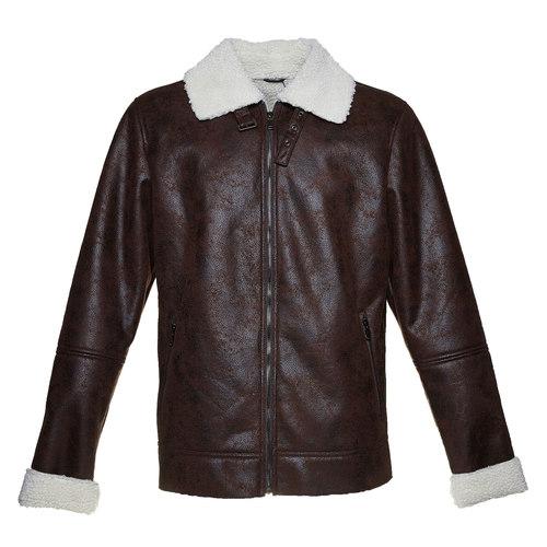 Giacca da uomo con pelliccia bata, marrone, 979-4441 - 13