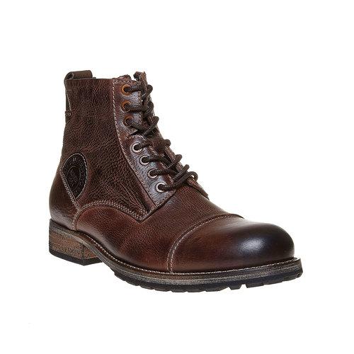 Scarpe di pelle alla caviglia bata, marrone, 894-4518 - 13