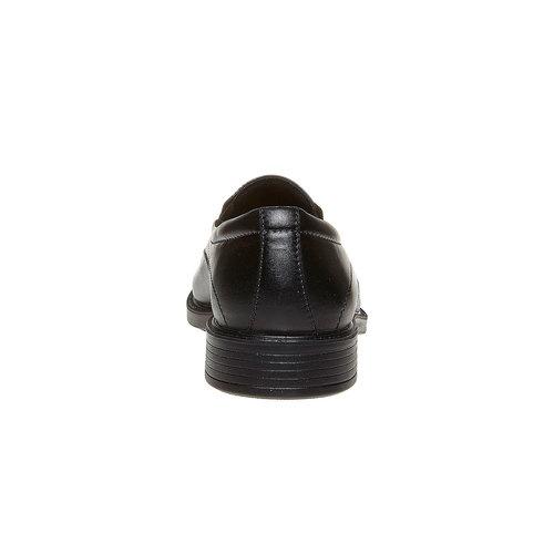 Mocassini in pelle da uomo bata-comfit, nero, 814-6153 - 17