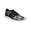 Sneaker sportive da donna con stampa adidas, nero, 509-6535 - 13