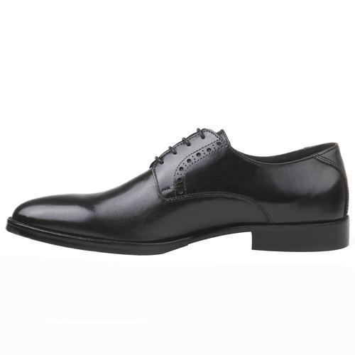 Scarpe basse di pelle in stile Derby bata-comfit, nero, 824-6619 - 15
