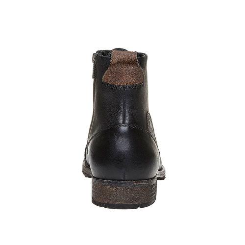 Scarpe alla caviglia da uomo in pelle bata, nero, 894-6518 - 17