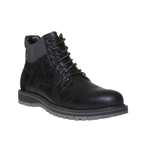 Scarpe da uomo alla caviglia, nero, 891-6529 - 13