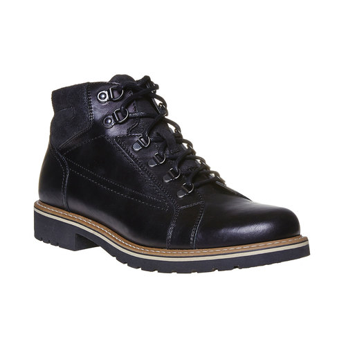 Scarpe di pelle alla caviglia bata, nero, 894-6561 - 13