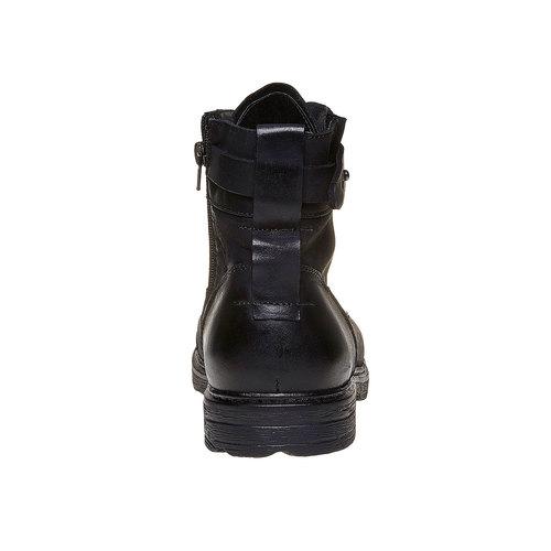 Scarpe da uomo in pelle alla caviglia, nero, 896-6569 - 17
