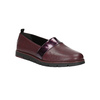Slip-on da donna in pelle color bordeaux flexible, rosso, 514-5252 - 13