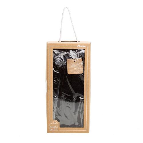 Guanti da uomo in pelle in una confezione regalo bata, nero, 903-6103 - 26