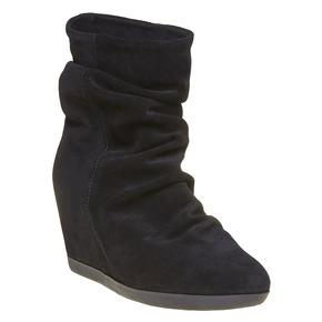 Scarpe da donna in pelle alla caviglia bata, nero, 793-6618 - 13