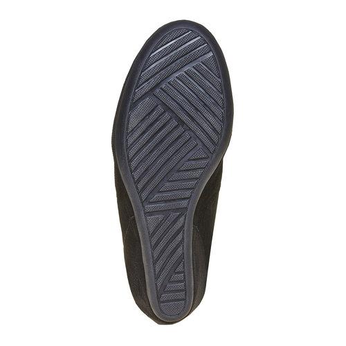 Sneakers di pelle con zeppa bata, nero, 723-6828 - 26
