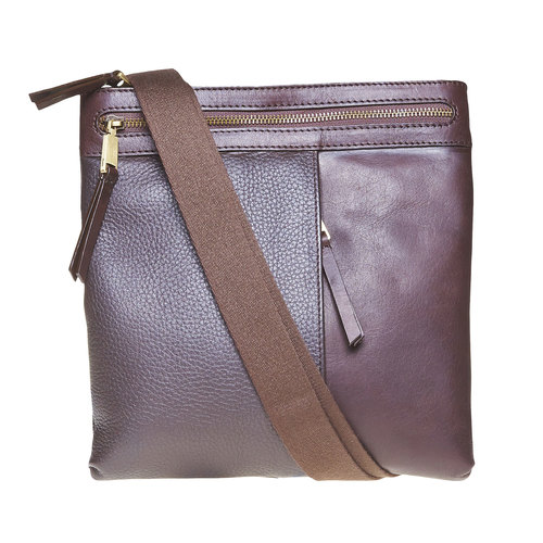 Borsa messenger da uomo in pelle bata, marrone, 964-4137 - 26