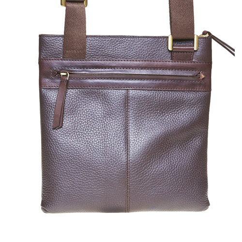 Borsa messenger da uomo in pelle bata, marrone, 964-4137 - 17