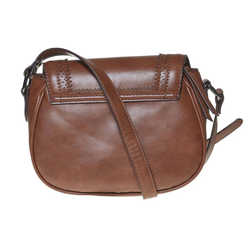 Borsetta Crossbody con perforazioni bata, marrone, 961-3767 - 26