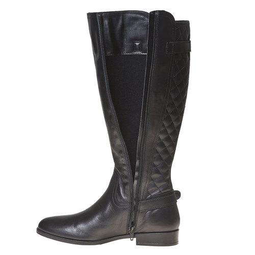 Stivali di pelle con cuciture bata, nero, 594-6525 - 19