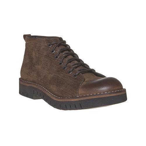 Scarpe da uomo alla caviglia bata, marrone, 894-4519 - 13