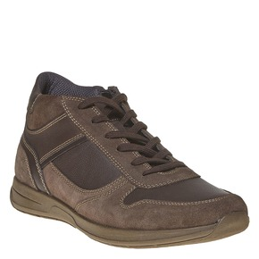 Sneakers in pelle da uomo bata, marrone, 894-4697 - 13