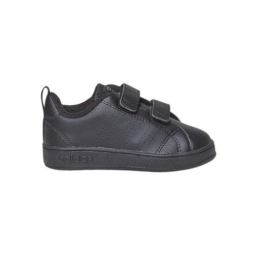 Sneakers nere da bambino con chiusure a velcro adidas, nero, 101-6233 - 15