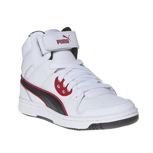 Sneakers da bambino alla caviglia puma, bianco, 401-1320 - 13
