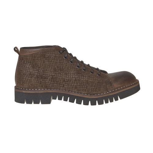 Scarpe da uomo alla caviglia bata, marrone, 894-4519 - 15