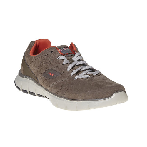 Sneakers da uomo in pelle skechers, marrone, 803-4351 - 13