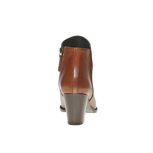 Stivaletti di pelle con tacco alto bata, marrone, 794-3597 - 17