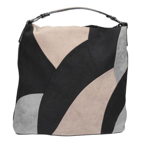 Borsetta in stile Hobo Bag bata, nero, 969-6231 - 26