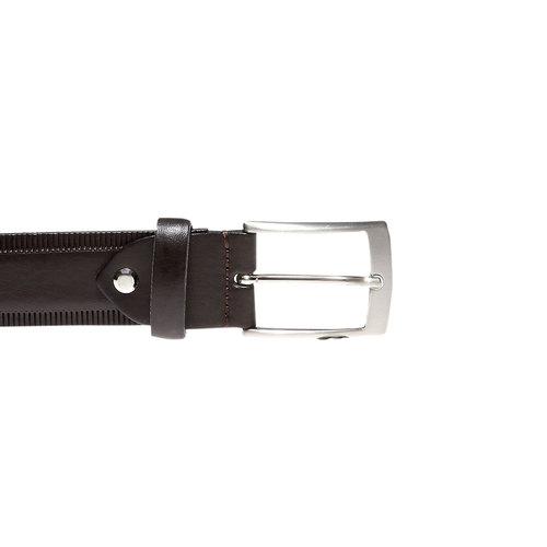 Cintura da uomo in pelle bata, marrone, 954-4155 - 26