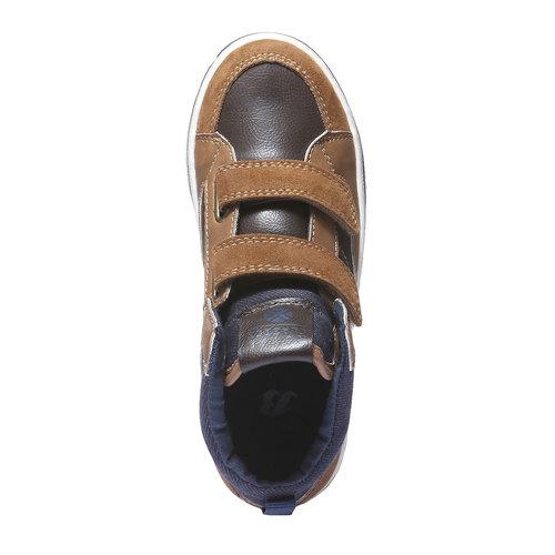 Sneakers da bambino alla caviglia mini-b, giallo, 311-8131 - 19