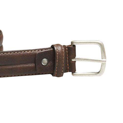 Cintura da uomo in pelle bata, marrone, 954-4128 - 26