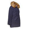 Parka donna con cappuccio e eco-fur bata, blu, 979-9648 - 16
