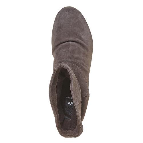 Stivali di pelle con tacco a zeppa bata, grigio, 793-2618 - 19