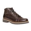 Scarpe di pelle alla caviglia bata, marrone, 894-4561 - 13