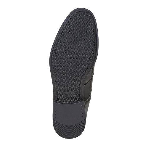 Scarpe basse da uomo in stile Derby bata, nero, 821-6430 - 26