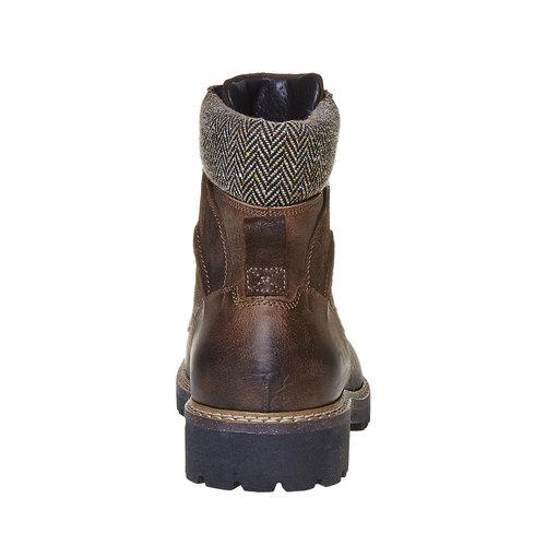 Scarpe da uomo alla caviglia bata, grigio, 894-2634 - 17