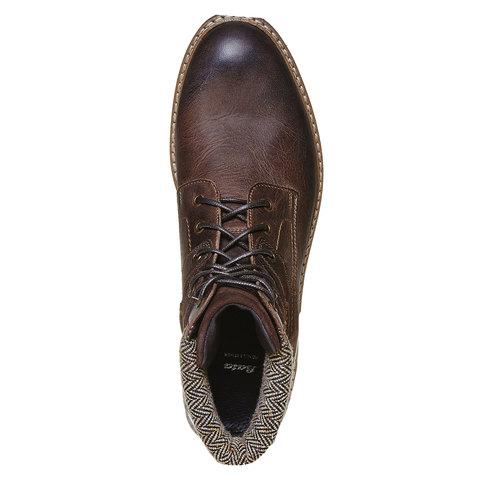Scarpe da uomo alla caviglia bata, grigio, 894-2634 - 19