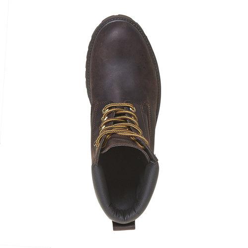 Scarpe invernali in pelle da uomo weinbrenner, marrone, 896-4705 - 19