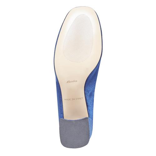 Stivaletti di velluto bata, blu, 799-9643 - 26