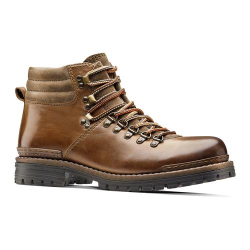Scarpe in pelle con lacci originali bata, marrone, 894-4180 - 13