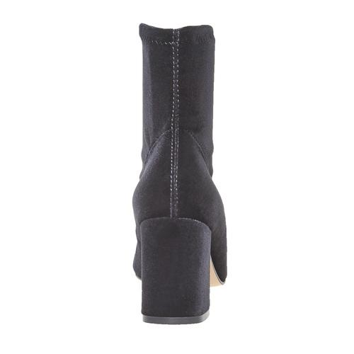 Stivaletti di velluto bata, nero, 799-6643 - 17
