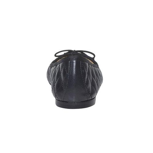 Ballerine in pelle con cuciture bata, nero, 524-6431 - 17