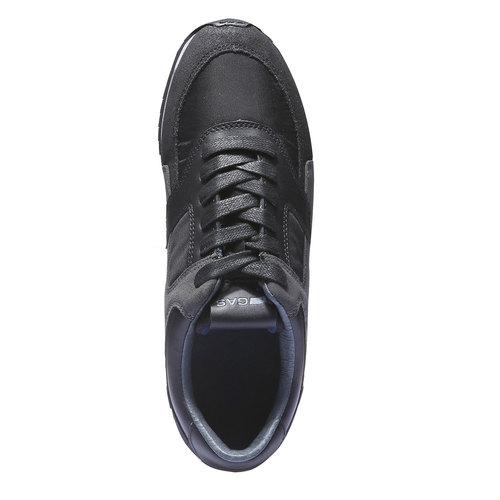 Sneakers di pelle da uomo gas, nero, 843-6507 - 19